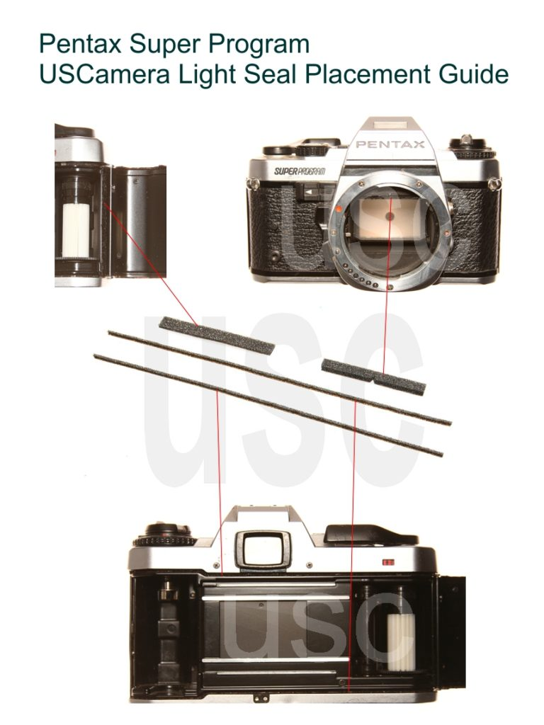USCamera Light Seal Placement Guide | Pentax Super Program