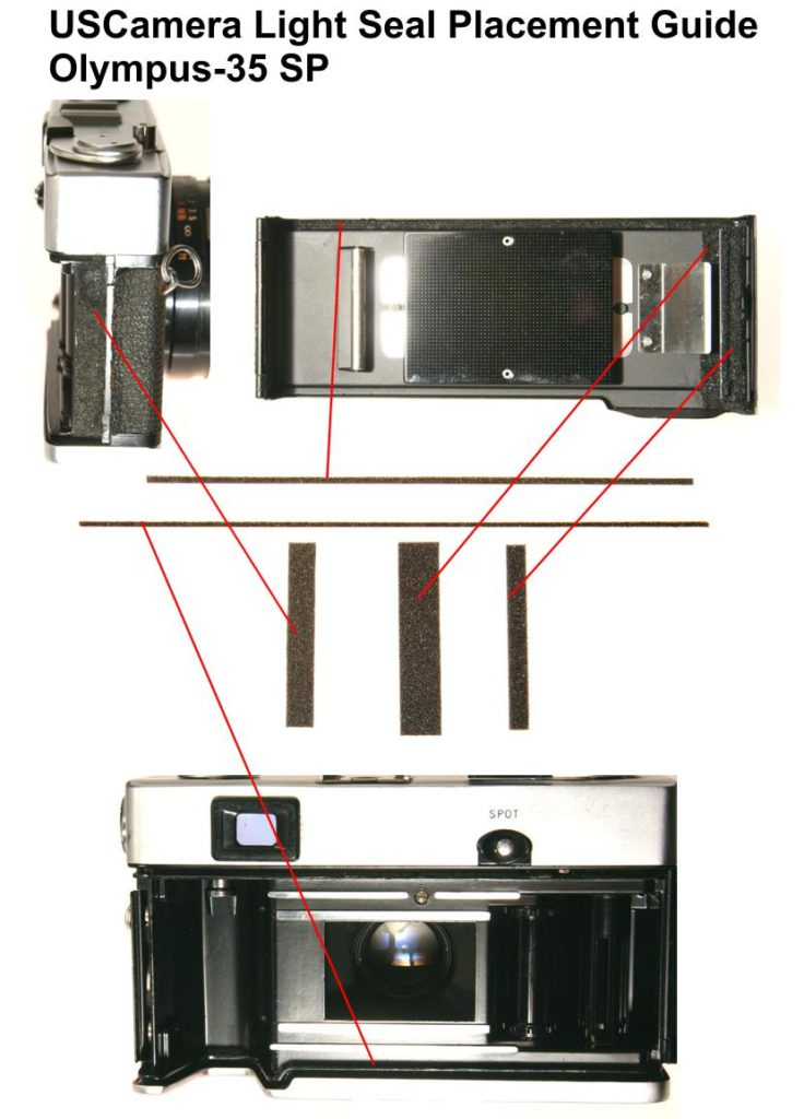 USCamera Light Seal Placement Guide | Olympus 35 SPUSCamera