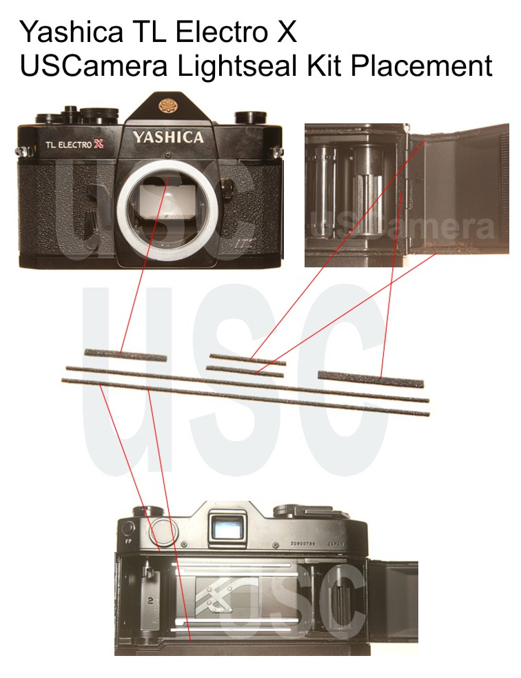 USCamera Light Seal Placement Guide | Yashica TL Electro X