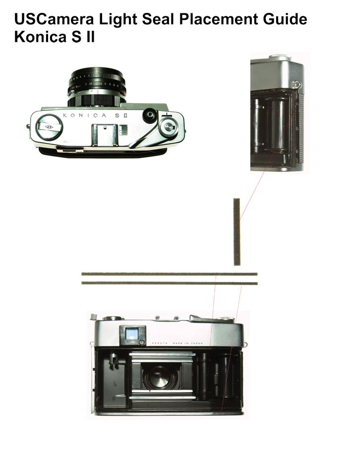USCamera Light Seal Placement Guide | Konica SII