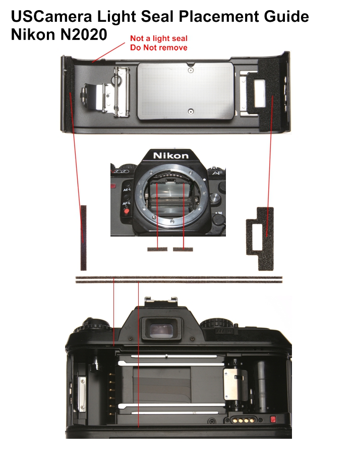 Nikon N2020 Placement Guide | Nikon Film Cameras