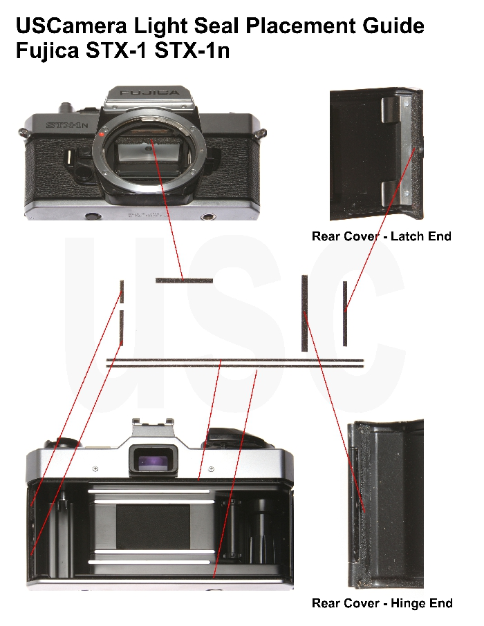 USCamera Light Seal Placement Guide | Fujica STX-1 STX-1N