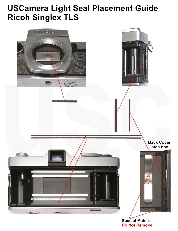 USCamera Light Seal Placement Guide | Ricoh Singlex TLS