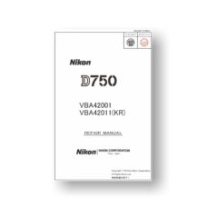 107-page PDF 11.8 MB download for the Nikon D750 Repair Manual | Digital SLR