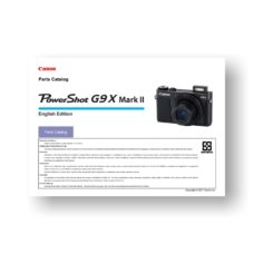 7-page PDF 2.38 MB download for the Canon G9x MarkII Parts Catalog | Powershot