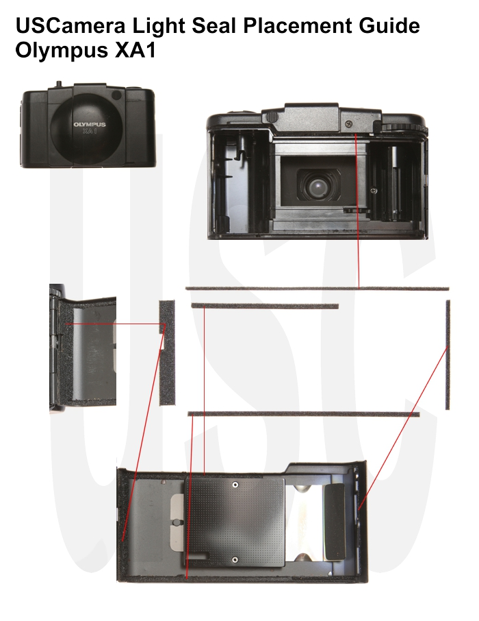 USCamera Light Seal Placement Guide  | Olympus XA1