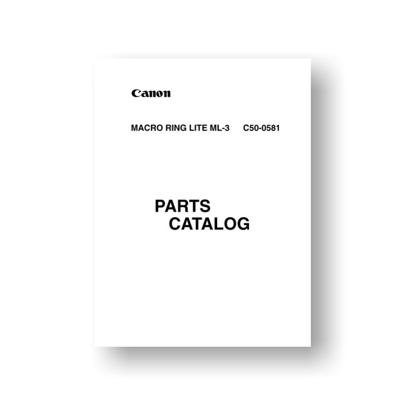 Canon ML-3 Parts List Download