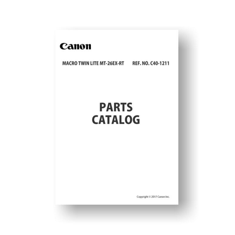 Canon MT-26EX-RT Parts List