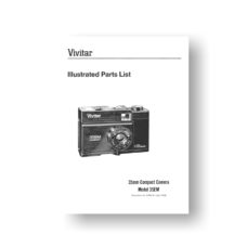 20-page PDF 332 KB download for the Vivitar 35EM Parts List | 35mm Compact