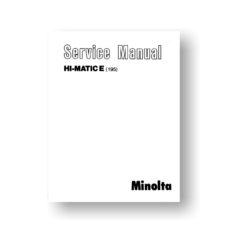 Minolta 195 Service Manual Parts List | Hi-Matic E