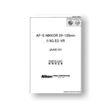 Nikkor AF-S 24-120 4G ED VR Parts List