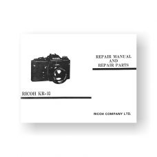 20-page PDF 922 KB download for the Ricoh KR10 Repair Manual Parts List | SLR Film Camera