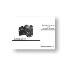 44-page PDF 1.58 MB download for the Ricoh XR-500 Repair Manual Parts List | KR-5 | Sears KS-500 | SLR Film Cameras