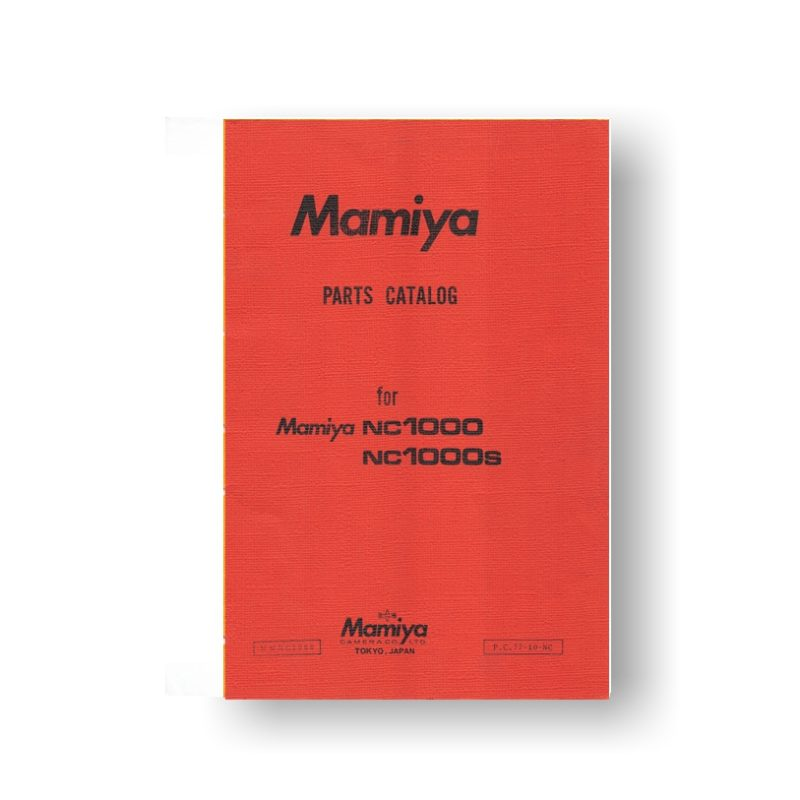 32-page PDF 1.63 MB download for the Mamiya NC1000 Parts List