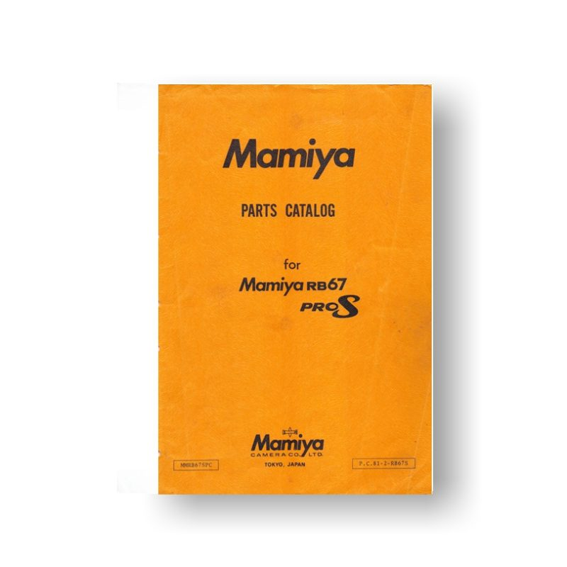 57-Page PDF 2.74 MB download for the Mamiya RB67 ProS Parts List