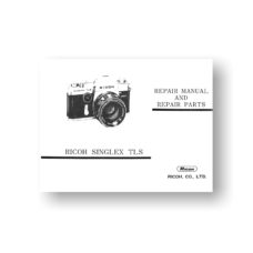34-page PDF 1.39 MB download for the Ricoh Singlex-TLS Repair Manual Parts List | SLR Film Camera