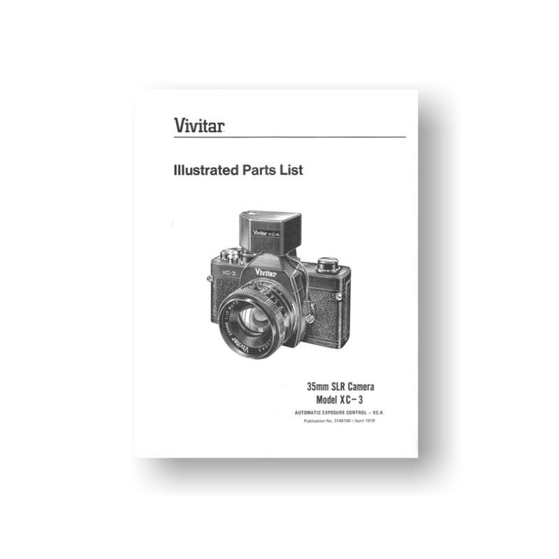 27-page PDF 501 KB download for the Vivitar XC-3 Parts List | 35mm SLR Cameras