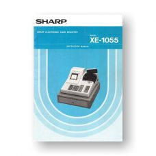 46 page PDF 15.5 MB Sharp XE-1055 Instruction Manual