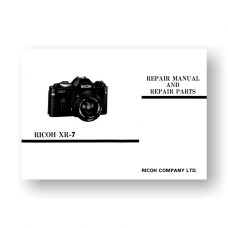 Ricoh XR-7 Repair Manual Parts List
