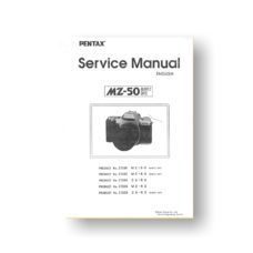 Pentax MZ-50 Service Parts Download