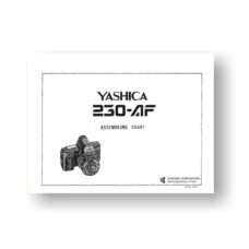 Yashica 230-AF Parts List | Yashica 230-AF Parts List Download