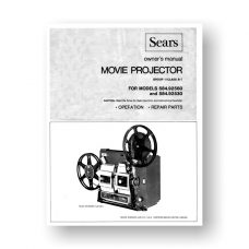 Sears 584.92560 Projector Owners Manual