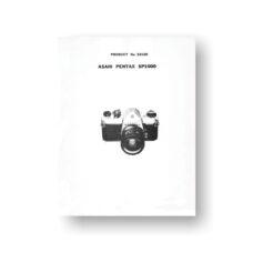 Pentax 23120 Spotmatic 1000 Parts List | Vintage Pentax Cameras