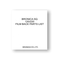 Bronica SQ FB Parts List Download | Bronica Film Cameras