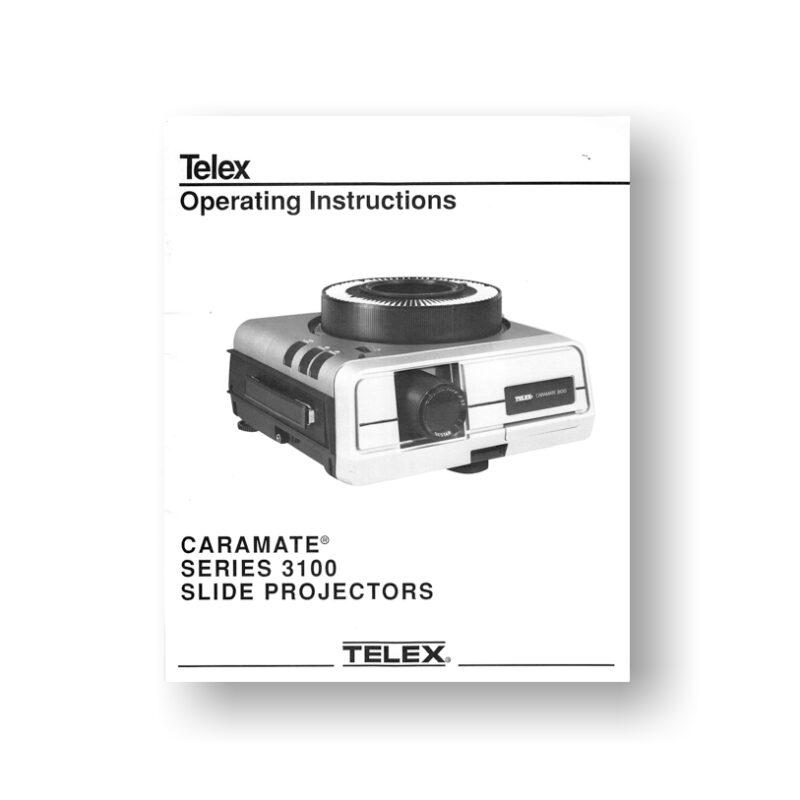 Telex 3100 Caramate Owners | Telex Slide Projectors | Telex Audio Visual