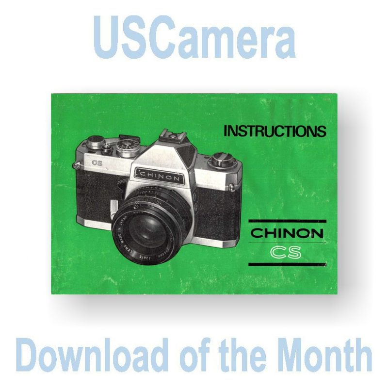 Chinon CS Instruction Manual - USCamera Free Monthly Download