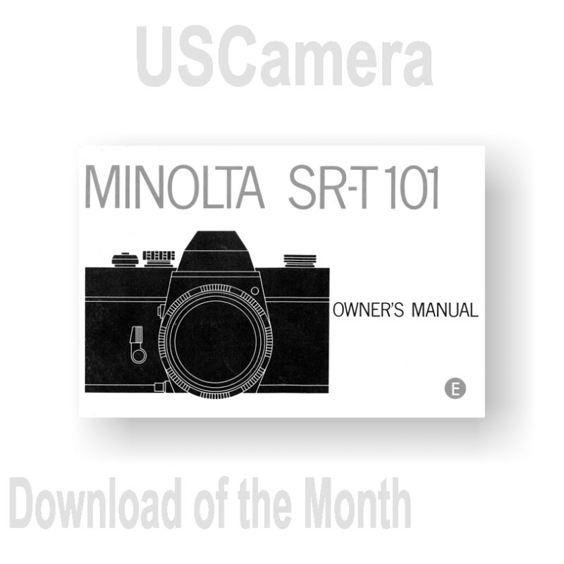 44-page PDF 7.93 MB Minolta SRT-101 Owners Manual
