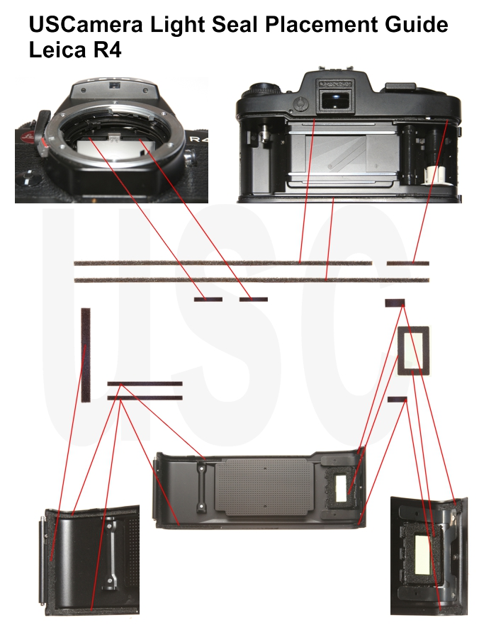 Leica R4 Light Seal Placement Guide | Leica Film Cameras