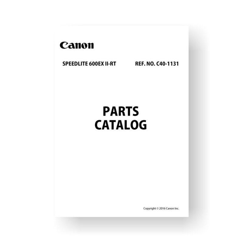 Canon C40-1131 Parts Catalog | Speedlite 600EX II-RT