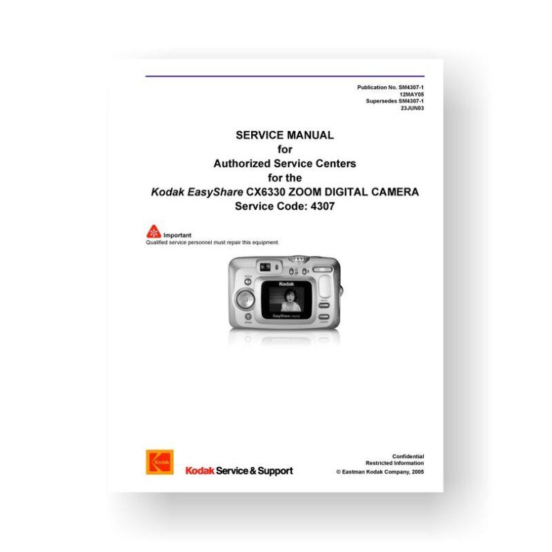 Kodak CX6330 Service Manual Parts List | Easyshare CX6330