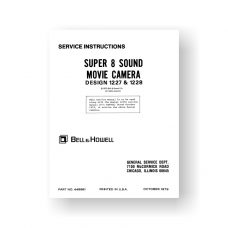 Bell & Howell 1227 Service Manual Parts List | Plus 1228 Super 8 Sound Movie Cameras