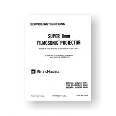 Bell & Howell 21DCM Service Manual | 21DCR | 21DCT | Super 8 Projector