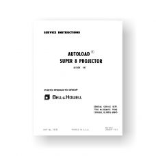 Bell & Howell 461 Service Manual Parts List | Super 8 Auto Load Projector
