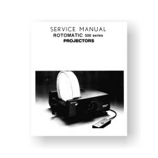 Rotomatic 500-Series Service Manual | 501 | 502 | 502 AF-AV | 503 | 515 -525 Electrofade
