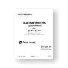 Bell & Howell 545 Service Manual Parts List   545EX   545T   545EXT   550   550T   552   552EX   552 T   552EXT