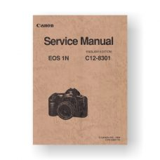 Canon C12-8301 Service Manual | EOS-1N Film Camera