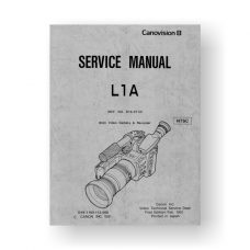 Canon DY8-1160-112 Service Manual Parts Catalog  | L1A | Canonvision 8