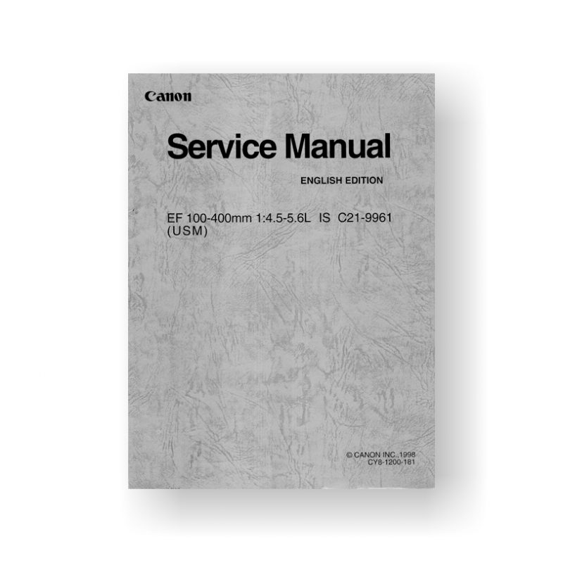 Canon CY8-1200-161 Service Manual Parts List  | EOS Rebel G Film Camera