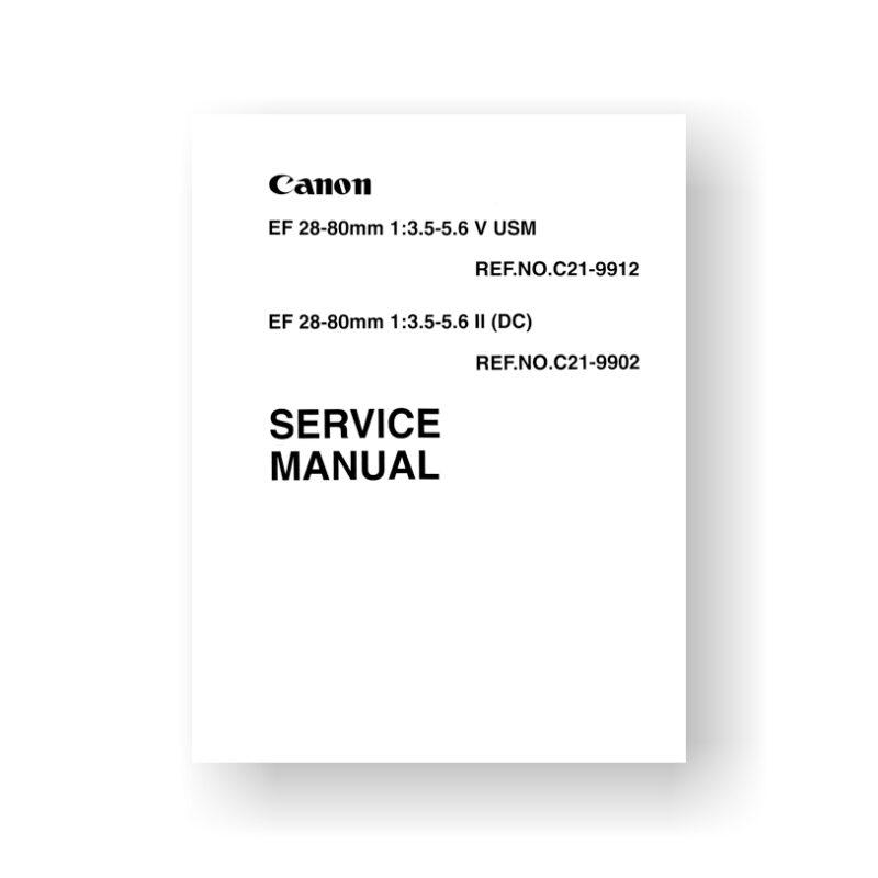 Canon CY8-1200-212 Service Manual Parts List | EF 28-80 3.5-5.6 V USM | USM EF 28-80 3.5-5.6 II