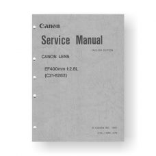 Canon C21-8282 Service Manual | EF 400 2.8 L