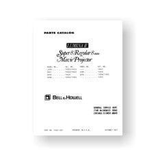 Bell & Howell Lumina-II Service Manual   LX30   MX43   MX45   MX60   Sears 584.92350   Sears 584.92360   Sears 584.92370   QX80   QX95   Dual 8 Projector
