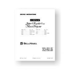 Bell & Howell Lumina-II Service Manual | LX30 | MX43 | MX45 | MX60 | Sears 584.92350 | Sears 584.92360 | Sears 584.92370 | QX80 | QX95 | Plus More
