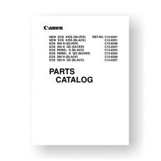 Canon CY8-1200-161 Service Manual Parts List | EOS Rebel G Film Camera