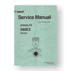 Canon C50-0721 Service Manual Parts Catalog   Speedlite 380EX