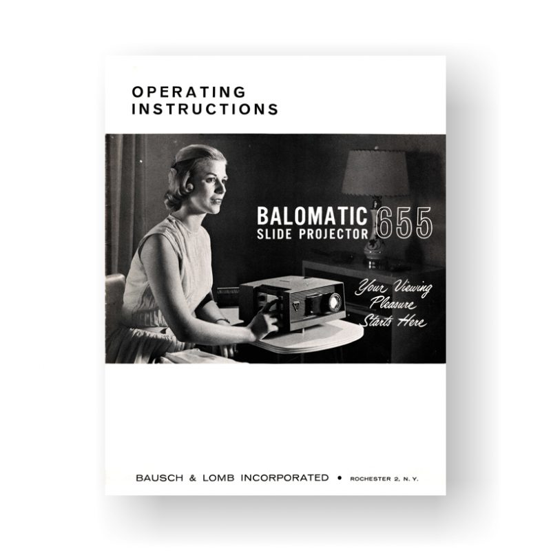 Balomatic 655 Operating Instructions | Bausch & Lomb