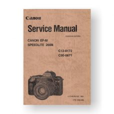 Canon CY8-1200-085 Service Manual Parts Catalog | Canon EF-M | Speedlite 200M